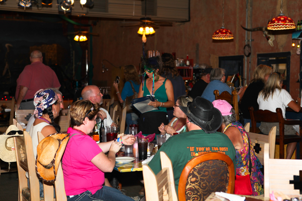 Halloween diner at Starlight Theatre in Terlingua