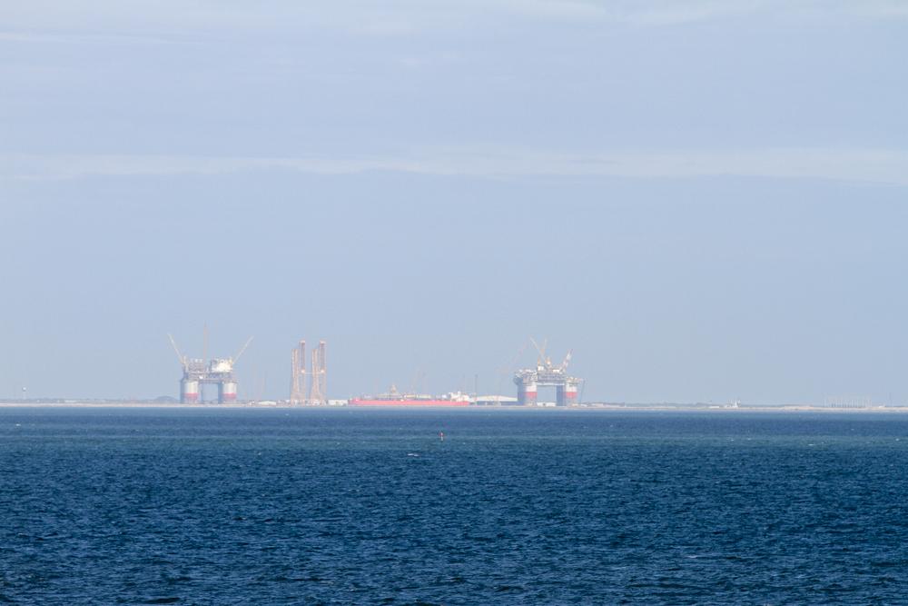 Plateforme pétrolière au large de Corpus Christi